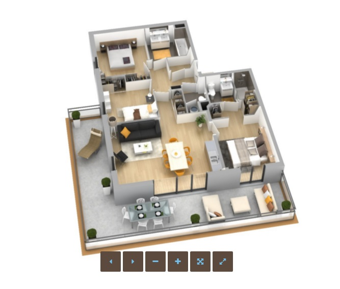 R sidence genovese appartement neuf ajaccio corse for Conception 3d appartement