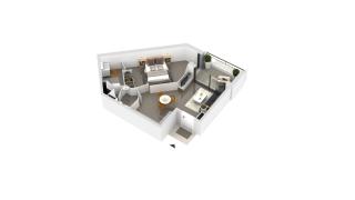appartement B1-44 de type T2