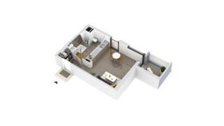 appartement B1-45 de type T1
