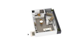 appartement B2-13 de type T1
