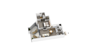 appartement B2-25 de type T2