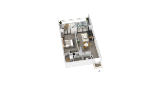 appartement B2-41 de type T2