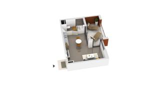 appartement B2-43 de type T1