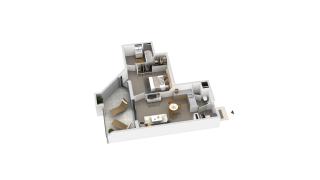 appartement B2-45 de type T2
