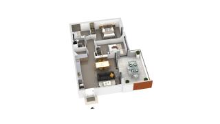 appartement B2-52 de type T3