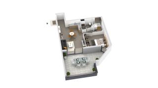 appartement B3-02 de type T2