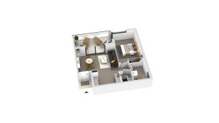 appartement B3-32 de type T2
