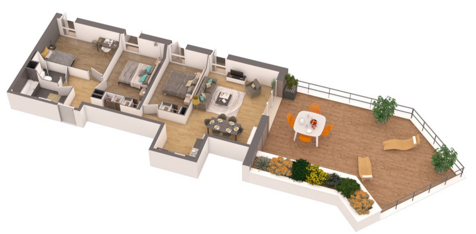 Residence saint andrews appartement neuf pessac gironde for Conception 3d appartement